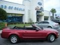 2007 Redfire Metallic Ford Mustang V6 Deluxe Convertible  photo #13