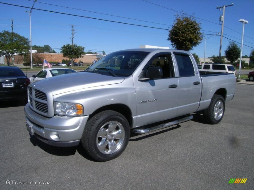 2002 Ram 1500 Sport Quad Cab 4x4 - Bright Silver Metallic / Dark Slate Gray photo #1
