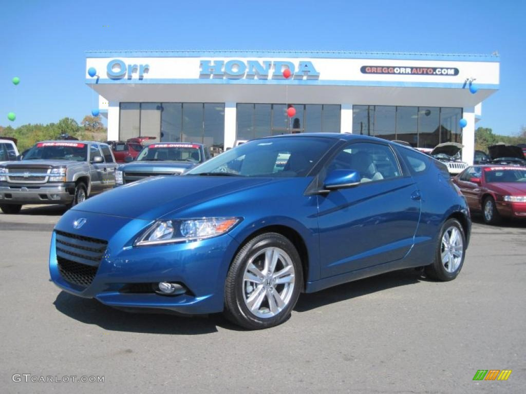 2011 north shore blue pearl honda cr z ex sport hybrid