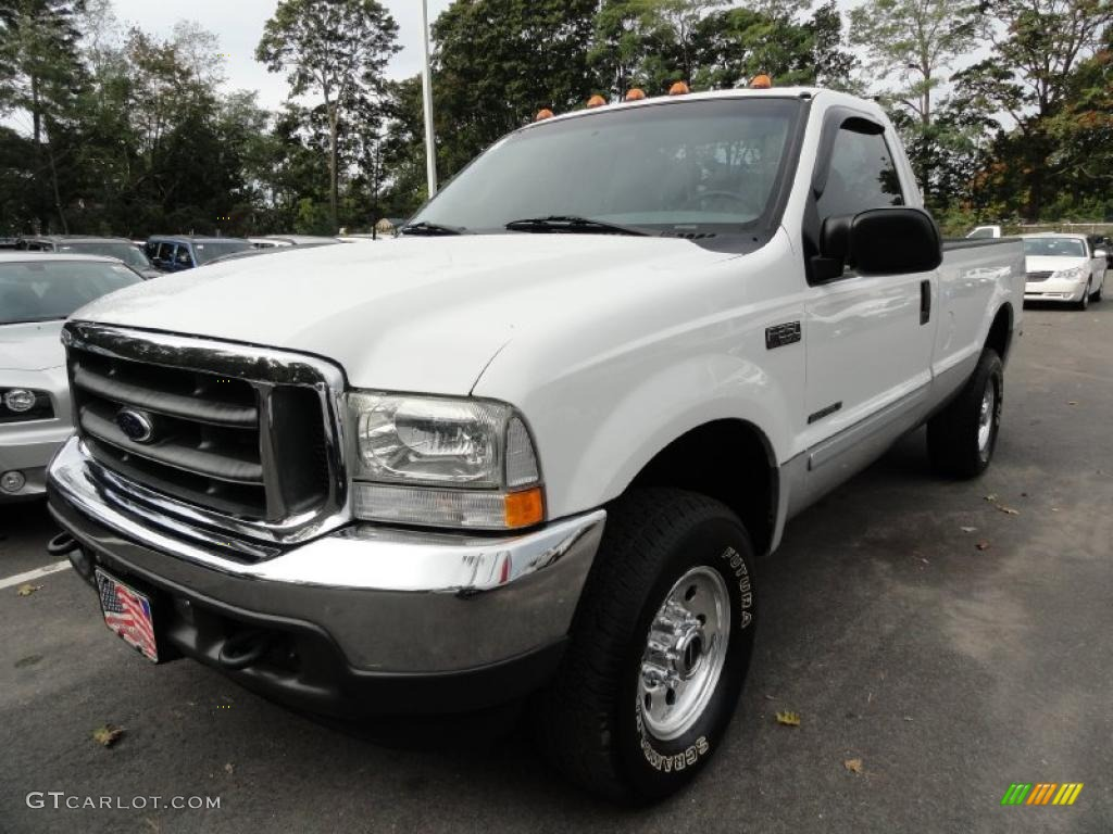 2002 f250 super duty xl regular cab 4x4 oxford white medium flint photo