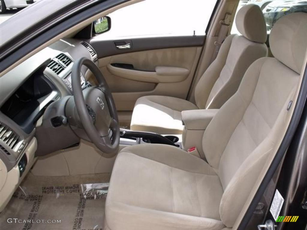 Ivory Interior 2007 Honda Accord Lx V6 Sedan Photo