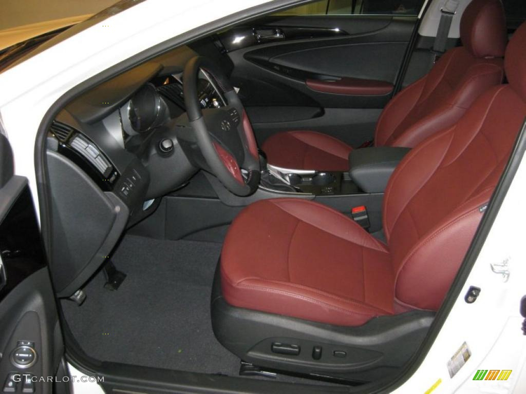 Wine Interior 2011 Hyundai Sonata Limited Photo 37841155