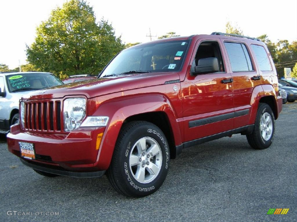 2010 inferno red crystal pearl jeep liberty sport 4x4. Black Bedroom Furniture Sets. Home Design Ideas