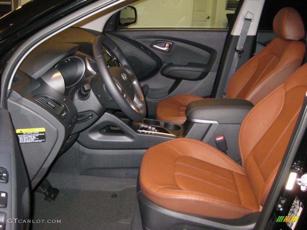 Black Saddle Interior 2011 Hyundai Tucson Limited Photo 37842047