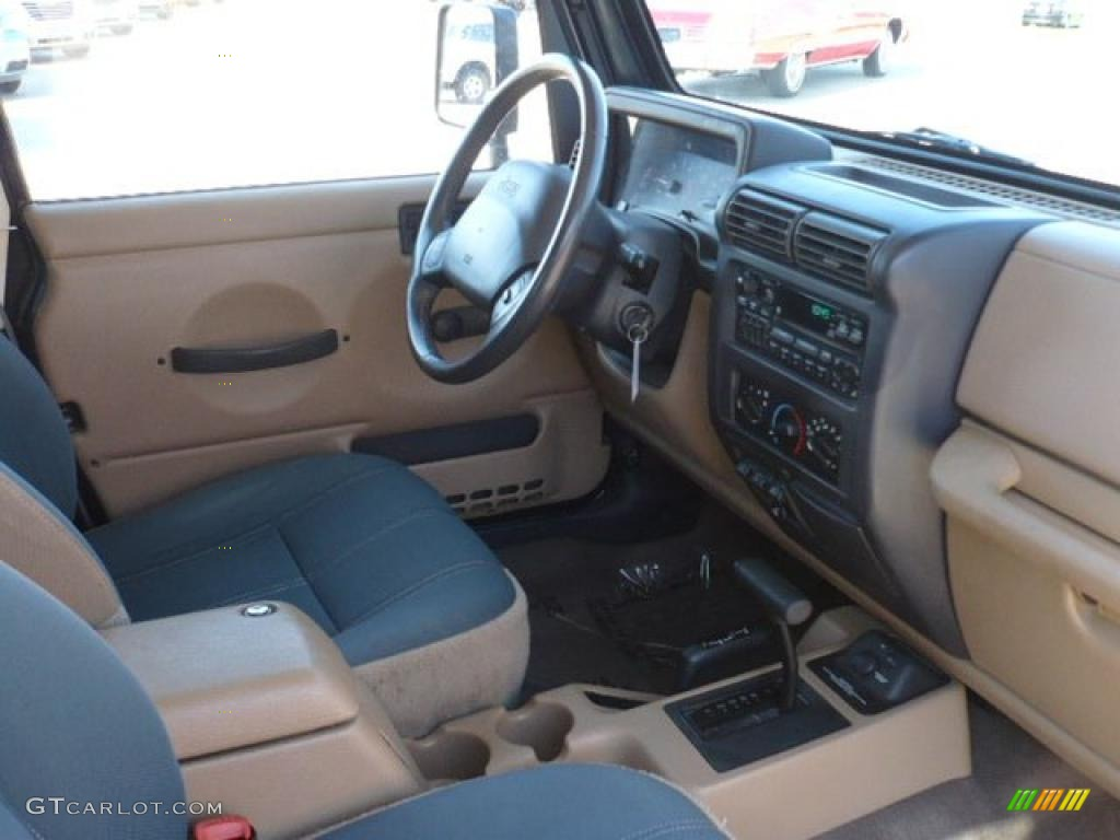 High Quality Camel/Dark Green Interior 2000 Jeep Wrangler Sahara 4x4 Photo #37843827 Amazing Pictures