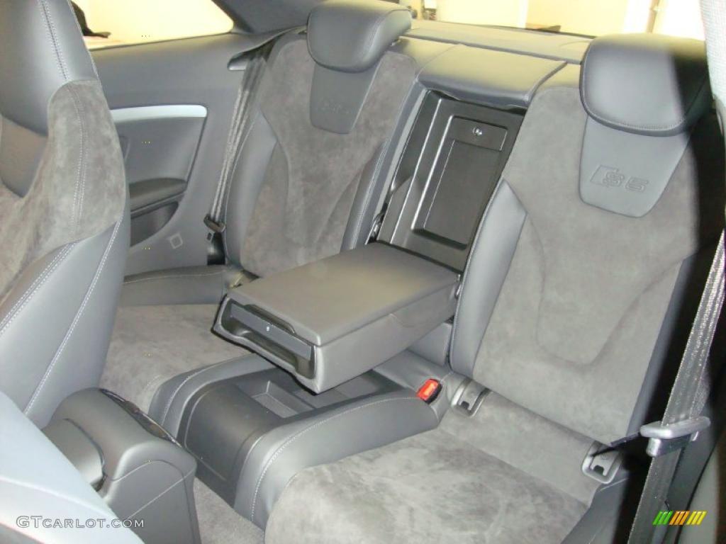 Black Silk Nappa Leather Alcantara Interior 2011 Audi S5 4