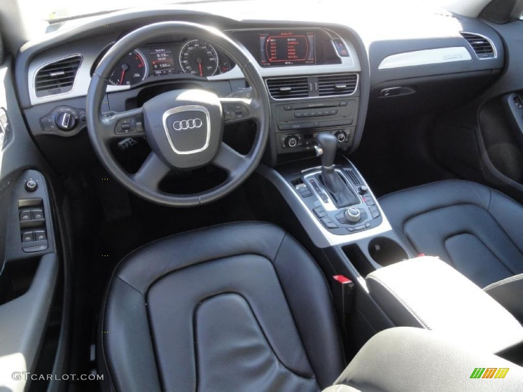 black interior 2009 audi a4 2.0t premium quattro sedan photo