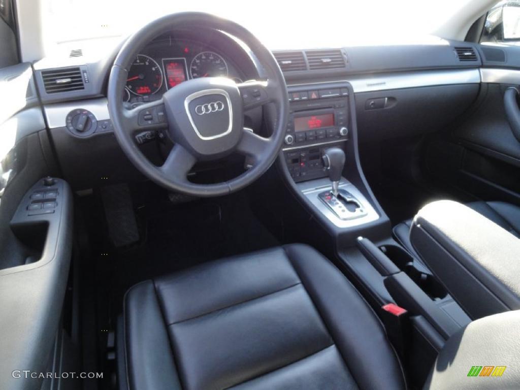 Black Interior 2008 Audi A4 2 0t Quattro Sedan Photo