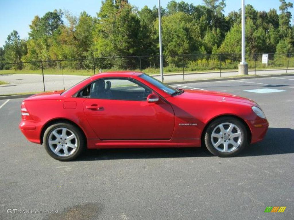 magma red 2002 mercedes benz slk 230 kompressor roadster