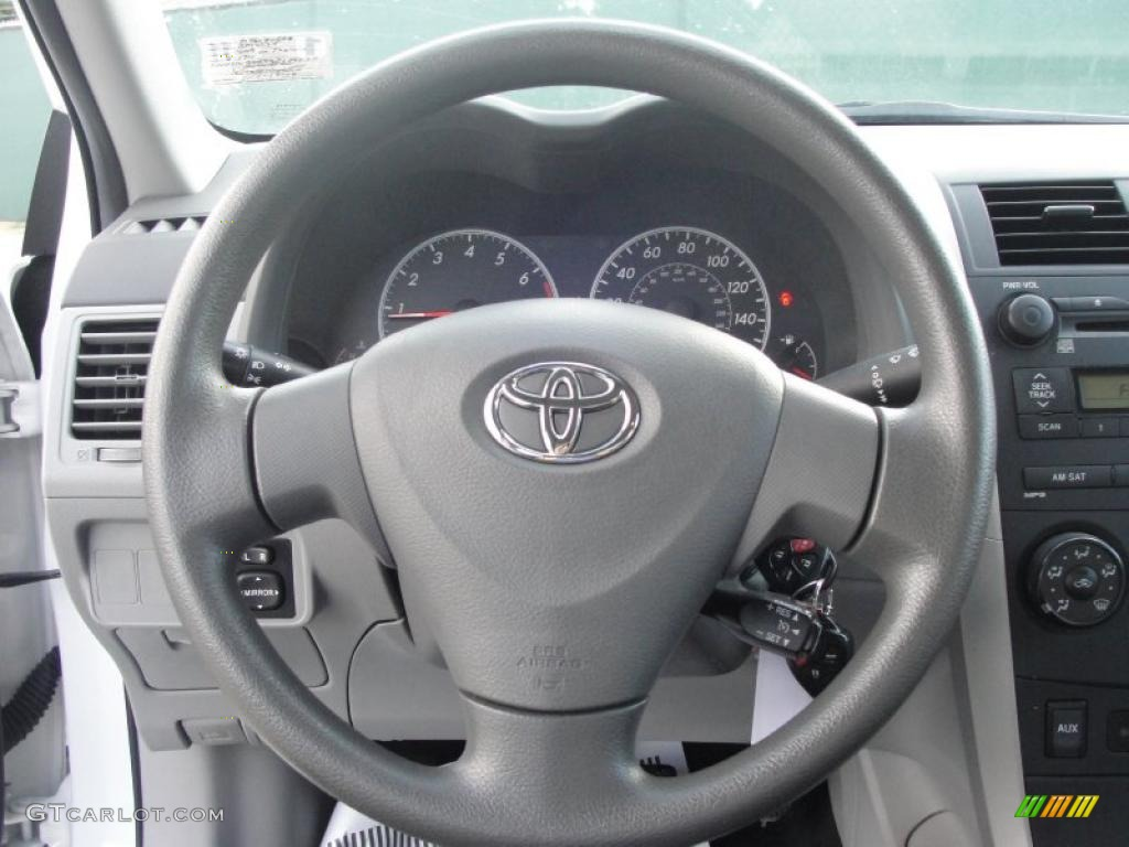 2009 toyota corolla le ash steering wheel photo 37898551. Black Bedroom Furniture Sets. Home Design Ideas