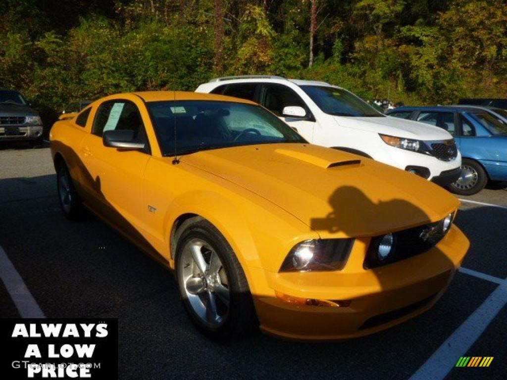 2007 Mustang GT Premium Coupe - Grabber Orange / Dark Charcoal photo #1
