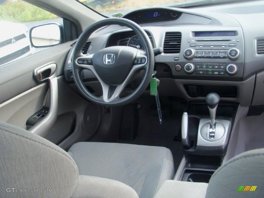 Gray Interior 2008 Honda Civic EX Coupe Photo #37909953