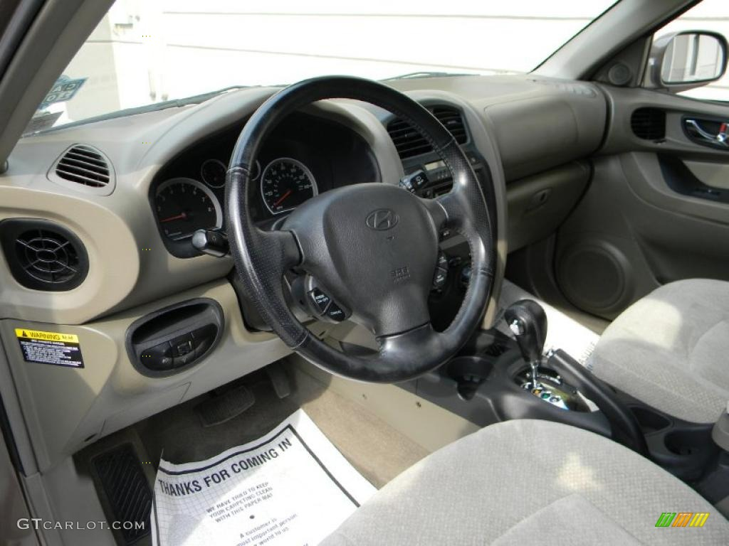 Beige Interior 2005 Hyundai Santa Fe Gls 4wd Photo 37913081