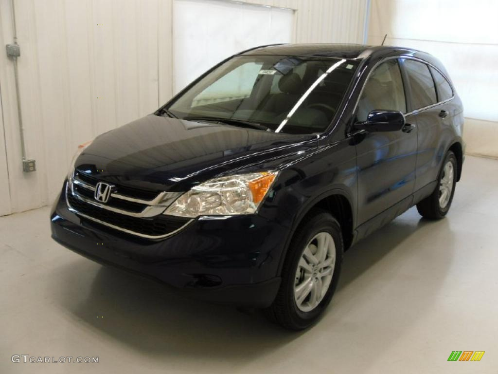 2011 CR-V EX-L - Royal Blue Pearl / Gray photo #1