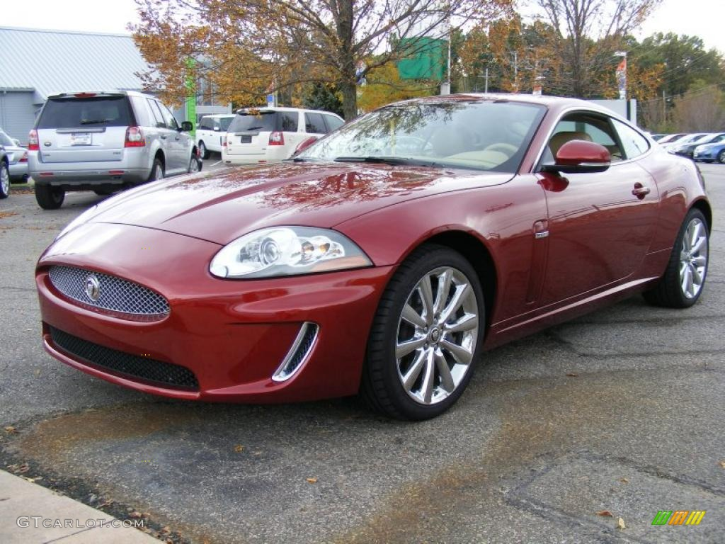 Jaguar xk coupe red - photo#11
