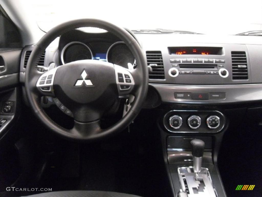 2010 Mitsubishi Lancer GTS Black Dashboard Photo #37918370 | GTCarLot.com