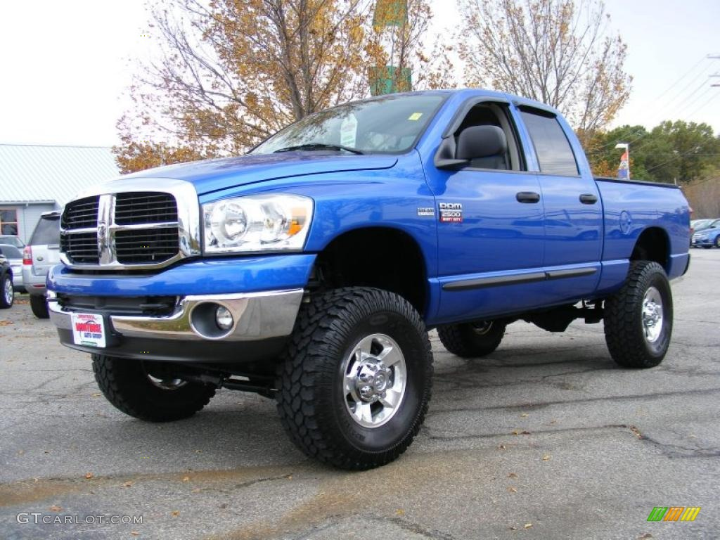 2007 Electric Blue Pearl Dodge Ram 2500 SLT Quad Cab 4x4 ...