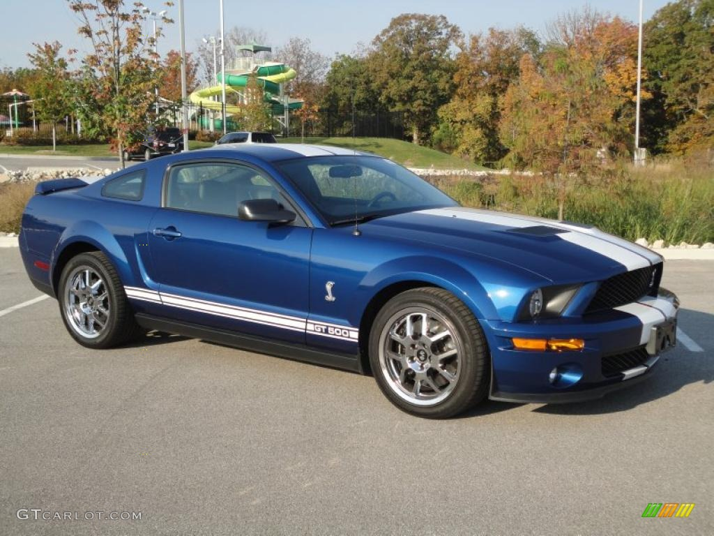 vista blue metallic 2008 ford mustang shelby gt500 coupe exterior photo 37925118. Black Bedroom Furniture Sets. Home Design Ideas