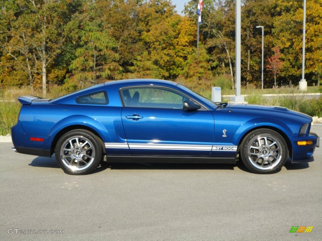 vista blue metallic 2008 ford mustang shelby gt500 coupe exterior photo 37925138. Black Bedroom Furniture Sets. Home Design Ideas