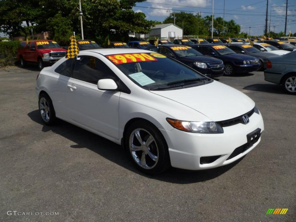 2007 taffeta white honda civic lx coupe 37896732. Black Bedroom Furniture Sets. Home Design Ideas