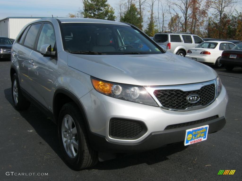2011 Sorento LX AWD - Bright Silver / Gray photo #16