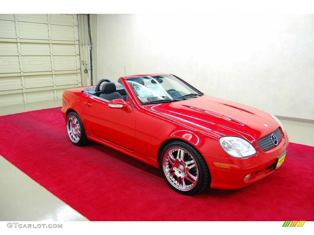 2001 SLK 320 Roadster - Magma Red / Sienna Beige photo #1
