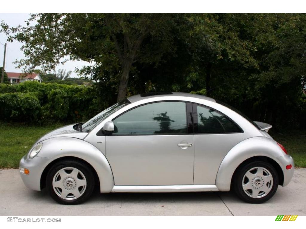 silver metallic 2000 volkswagen new beetle glx 1 8t coupe. Black Bedroom Furniture Sets. Home Design Ideas