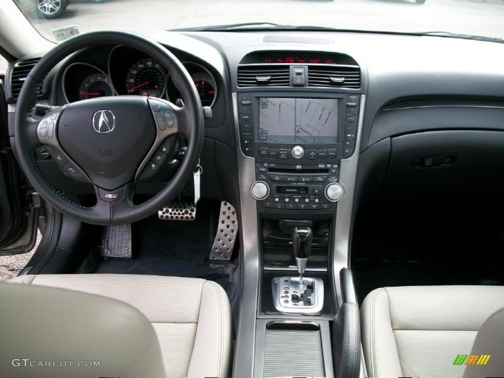 2008 acura tl 3 5 type s taupe ebony dashboard photo 37995105. Black Bedroom Furniture Sets. Home Design Ideas