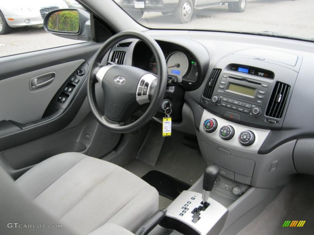 Gray Interior 2008 Hyundai Elantra Gls Sedan Photo