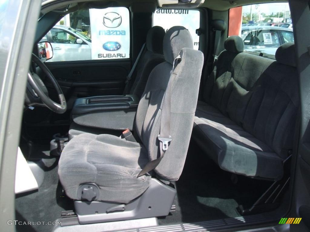 Graphite Gray Interior 2002 Chevrolet Silverado 1500 LS Extended Cab 4x4 Photo #38000498