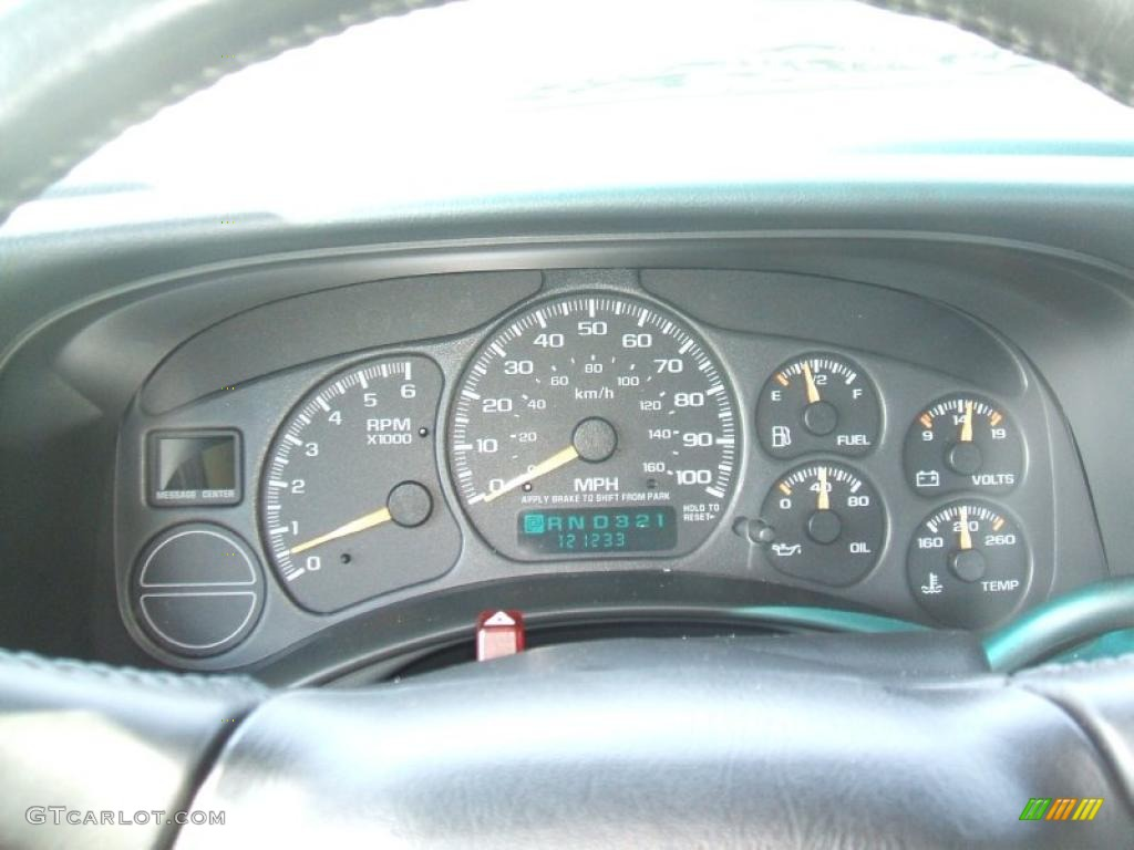 2002 Chevrolet Silverado 1500 LS Extended Cab 4x4 Gauges Photo #38000546