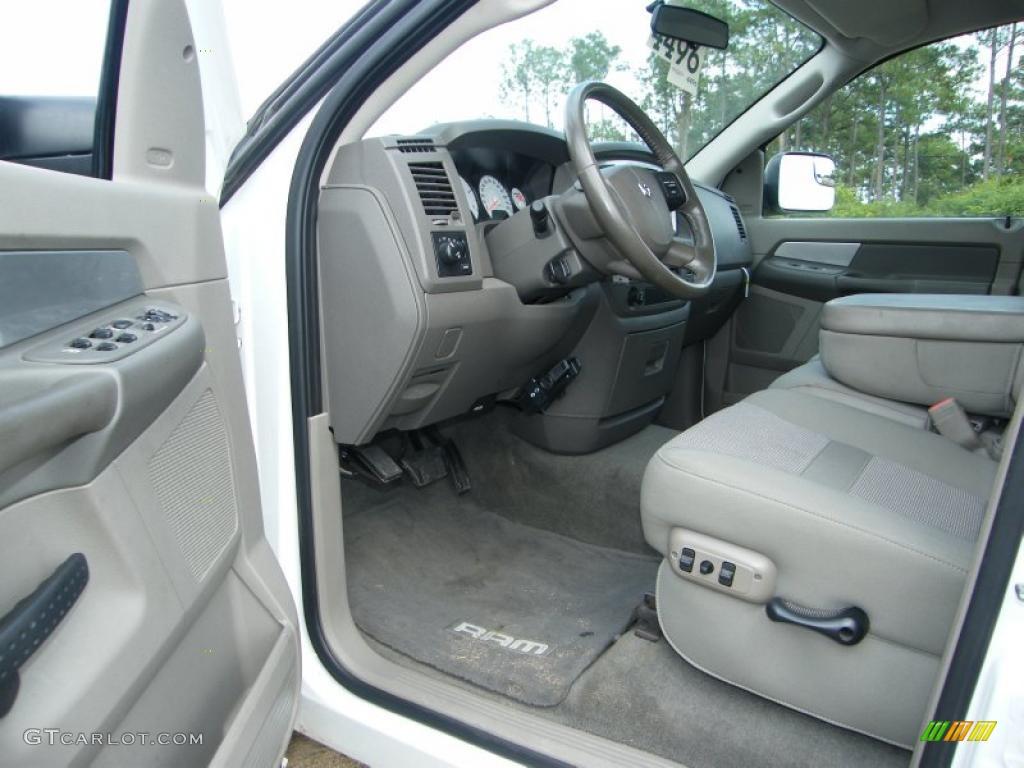 Khaki Interior 2007 Dodge Ram 3500 Big Horn Quad Cab
