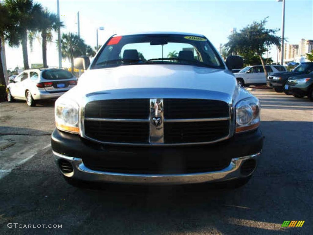 2006 Ram 1500 ST Regular Cab - Bright White / Medium Slate Gray photo #7