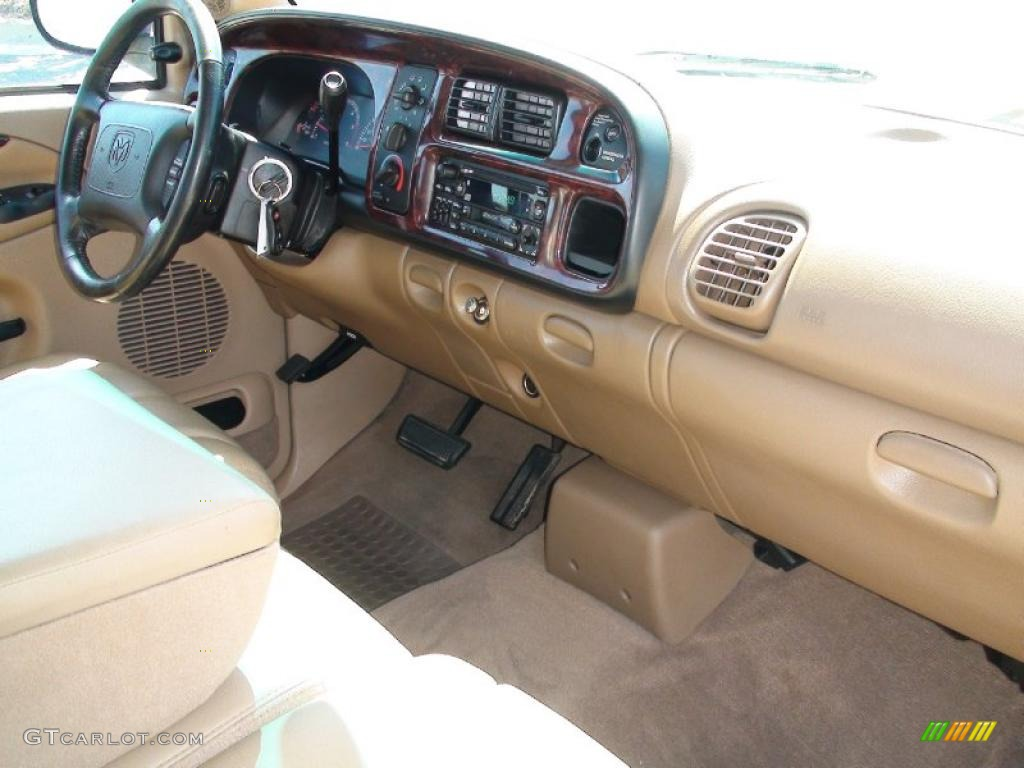 1999 Dodge Ram 1500 Slt Extended Cab Camel Tan Dashboard Photo 38041474