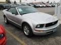 2007 Satin Silver Metallic Ford Mustang V6 Premium Convertible  photo #3