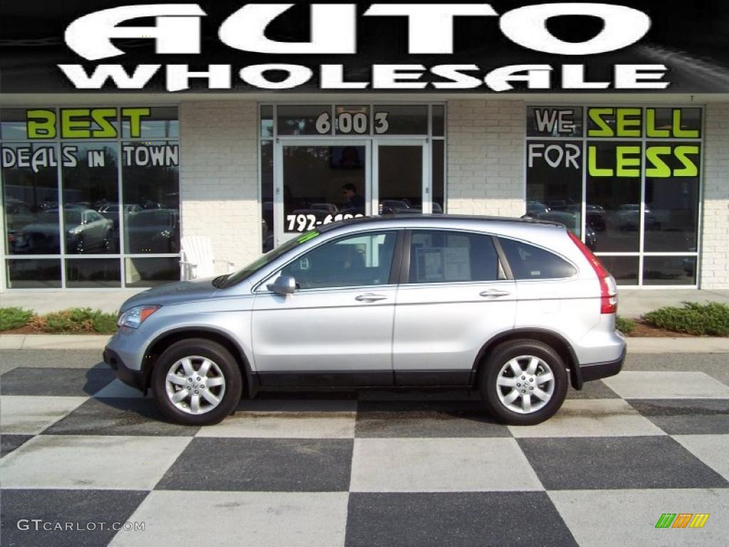 2009 CR-V EX-L - Alabaster Silver Metallic / Gray photo #1