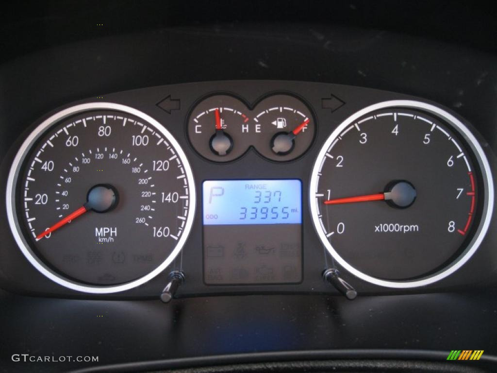 2008 Hyundai Tiburon GT Gauges Photo #38054046