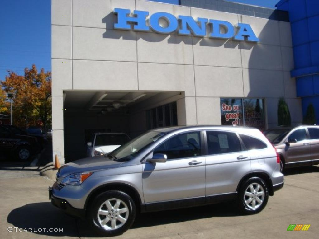 2008 CR-V EX-L 4WD - Whistler Silver Metallic / Black photo #1