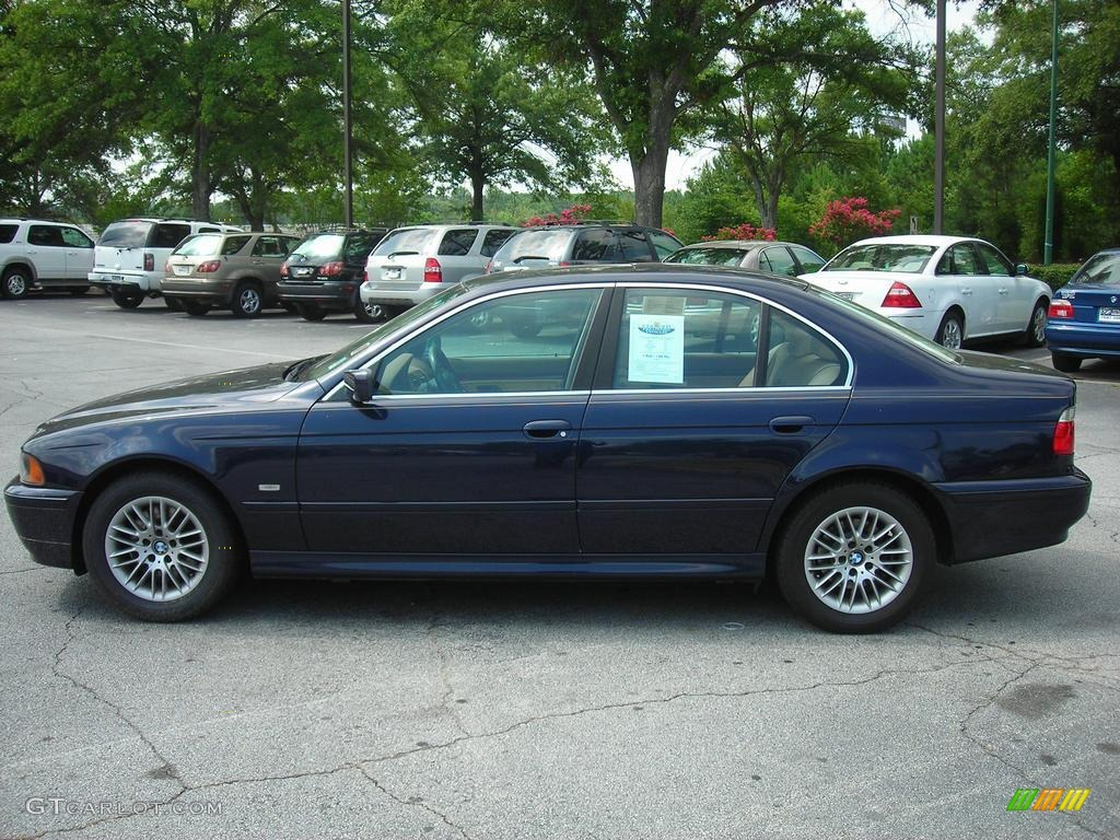 2003 Orient Blue Metallic BMW 5 Series 530i Sedan 38077146