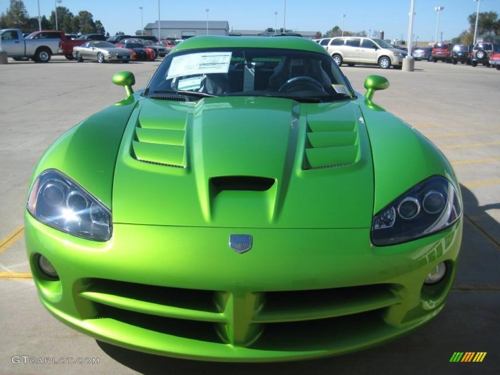Dodge Viper 2017 Blue >> 2010 Viper Snakeskin Green Pearl Dodge Viper SRT10 Coupe #38076322 Photo #3 | GTCarLot.com - Car ...
