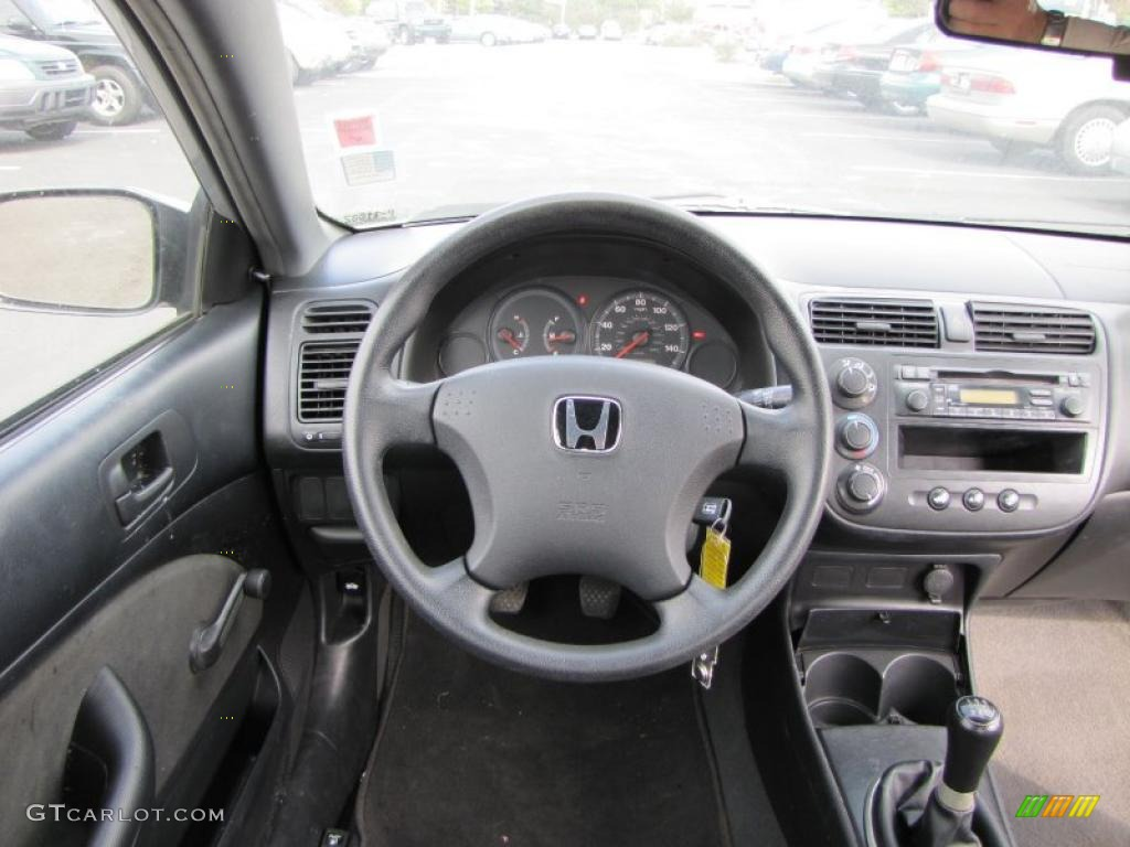 2004 Honda Civic Value Package Coupe Gray Dashboard Photo ...