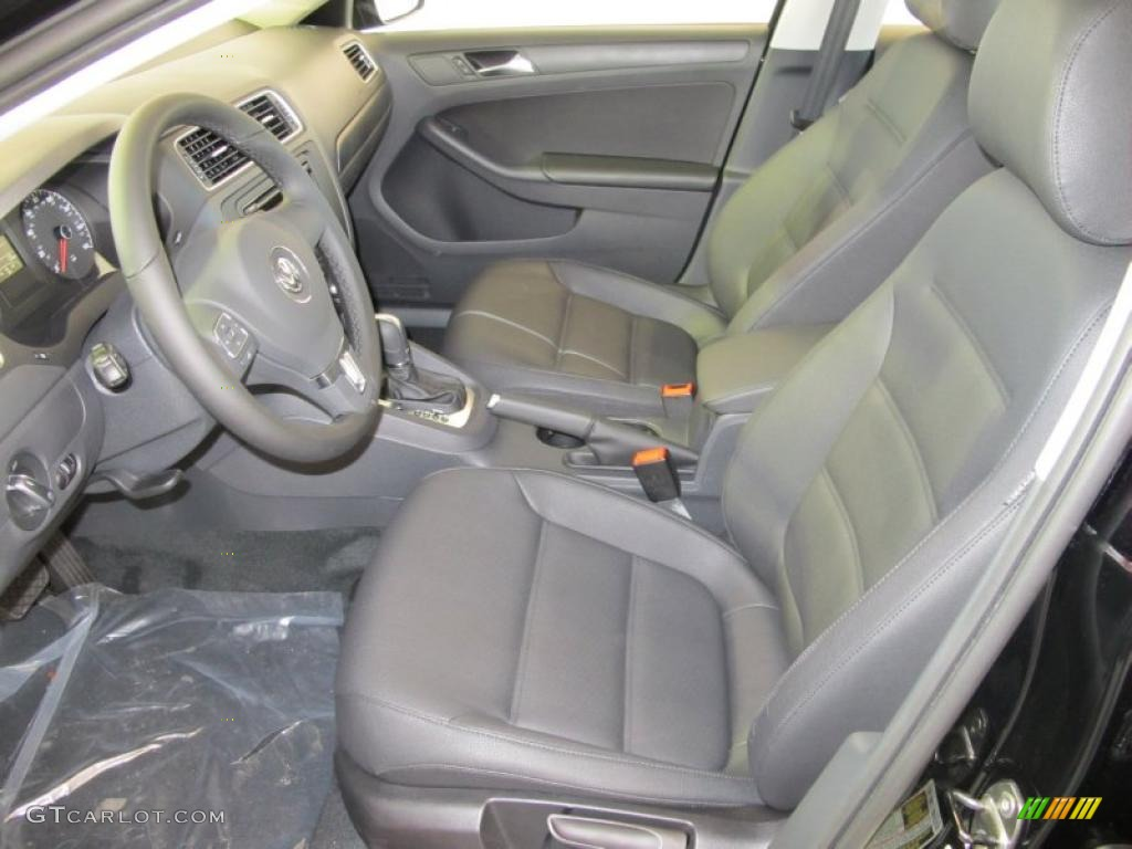 Titan Black Interior 2011 Volkswagen Jetta Se Sedan Photo 38092719