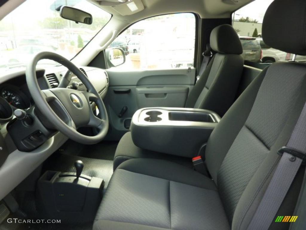 Dark Titanium Interior 2011 Chevrolet Silverado 1500 Regular Cab 4x4 Photo #38104275
