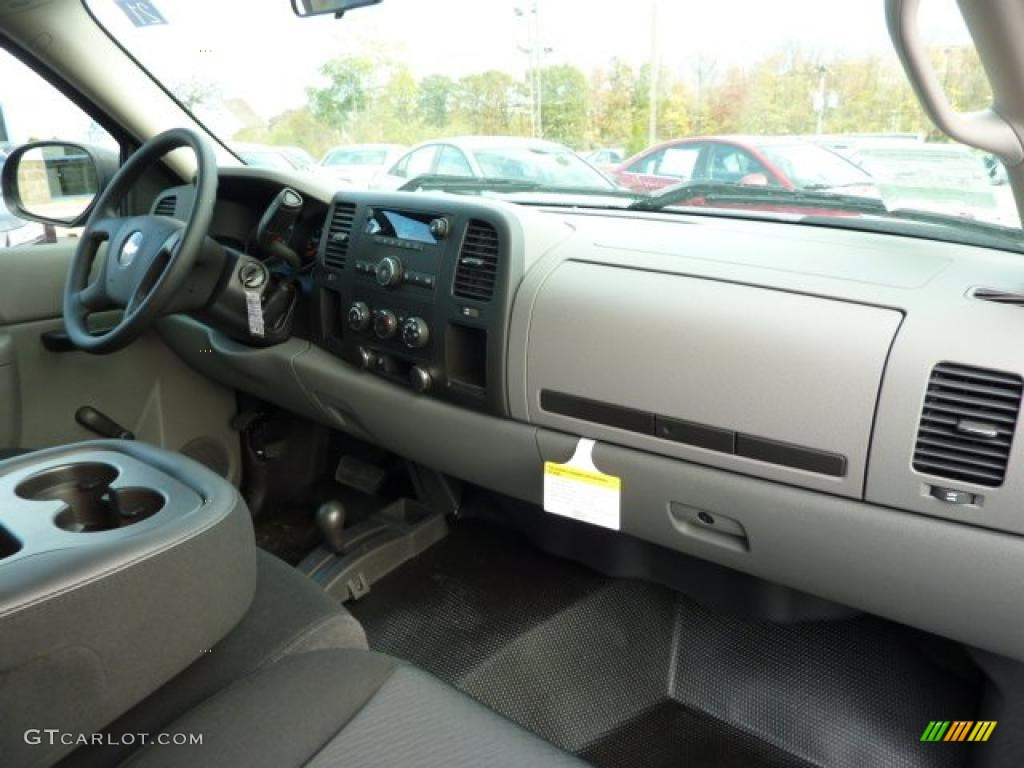 Dark Titanium Interior 2011 Chevrolet Silverado 1500 Regular Cab 4x4 Photo #38104287