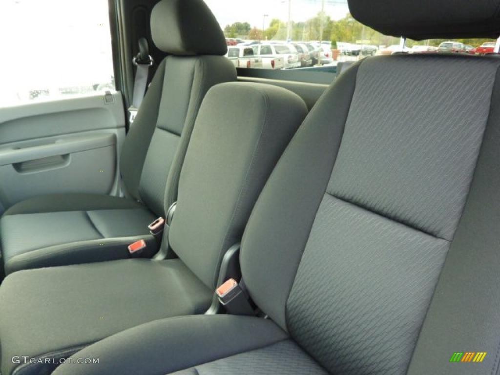Dark Titanium Interior 2011 Chevrolet Silverado 1500 Regular Cab 4x4 Photo #38104307