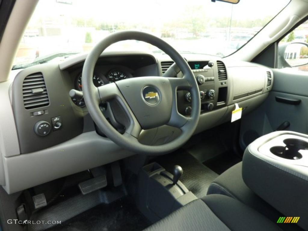 2011 Chevrolet Silverado 1500 Regular Cab 4x4 Dark Titanium Dashboard Photo #38104367