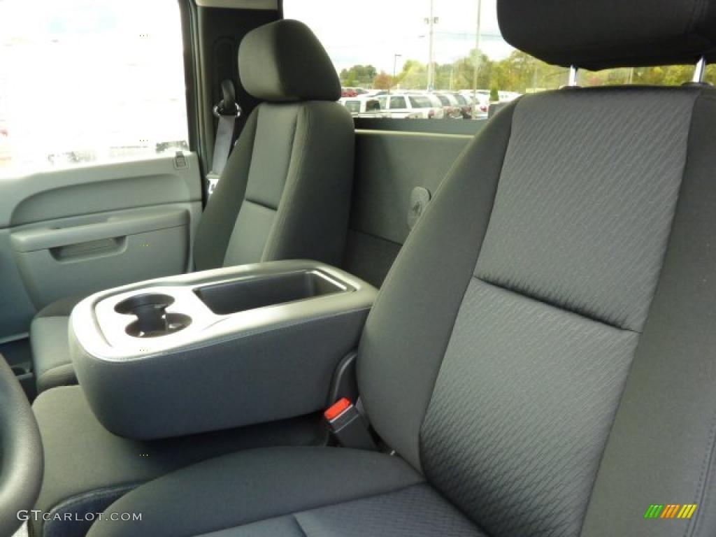 Dark Titanium Interior 2011 Chevrolet Silverado 1500 Regular Cab 4x4 Photo #38104399