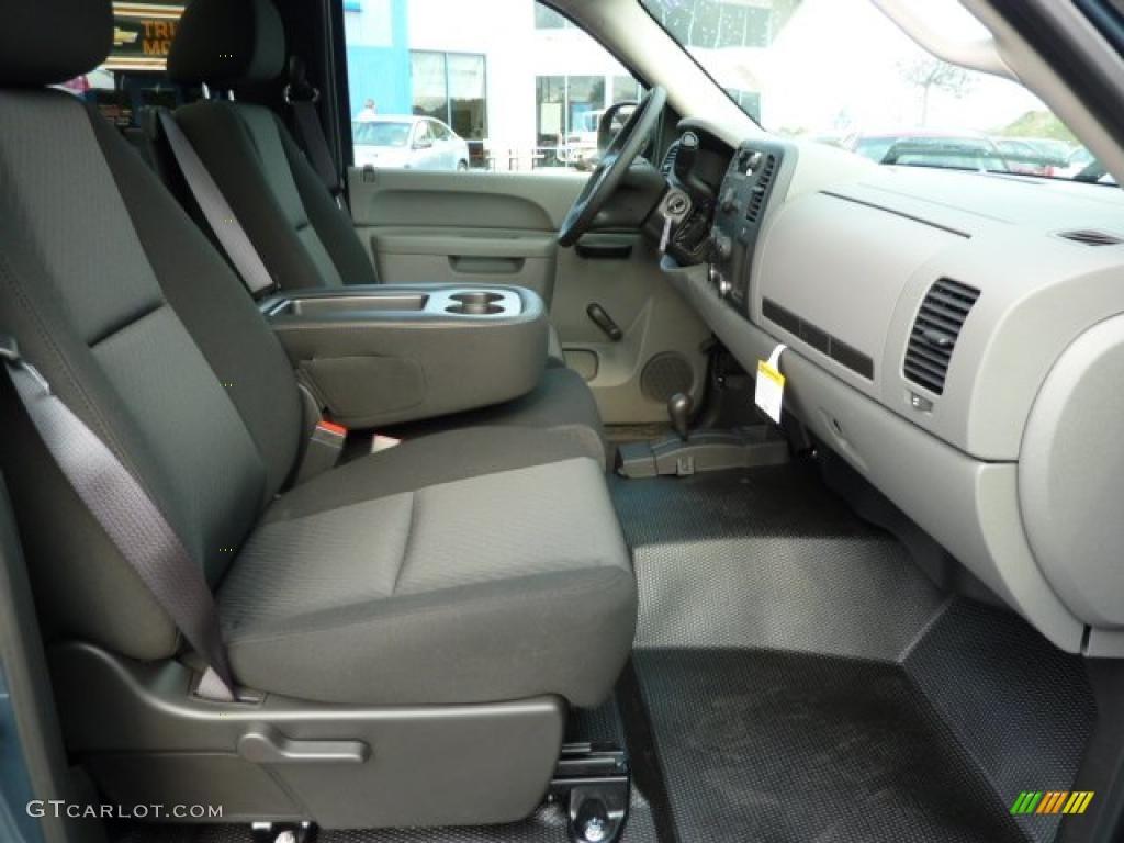 Dark Titanium Interior 2011 Chevrolet Silverado 1500 Regular Cab 4x4 Photo #38104411