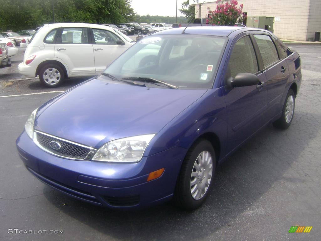2006 sonic blue metallic ford focus zx4 se sedan 38077304. Black Bedroom Furniture Sets. Home Design Ideas