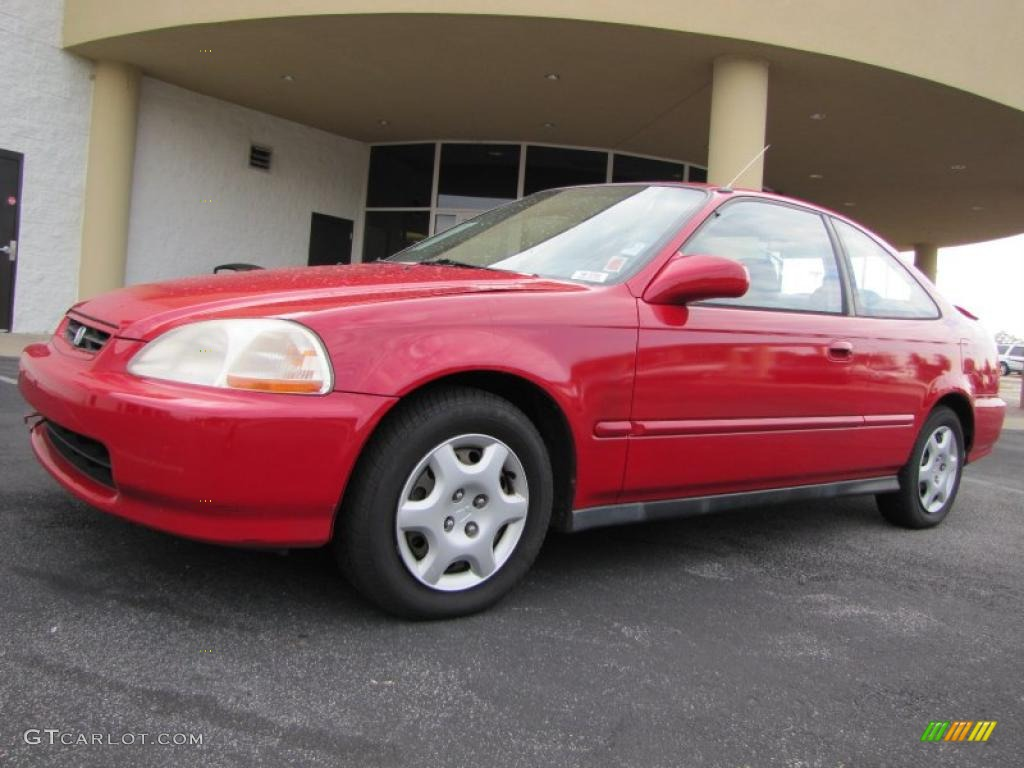 1998 Civic EX Coupe   Milano Red / Gray Photo #1